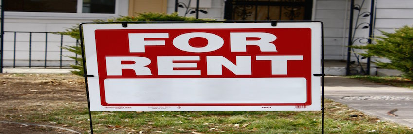 For rent sign red phone tenant