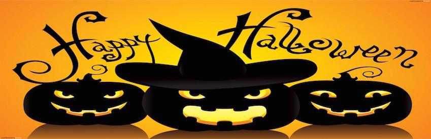 happy halloween pumpkins hat scary