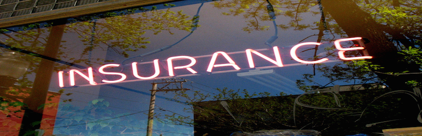 Insurance sign light neon bright