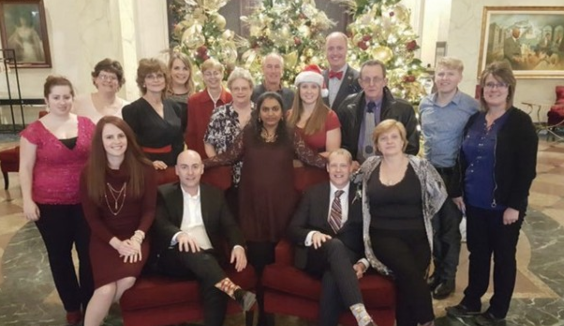 team picture magnum york property management christmas party