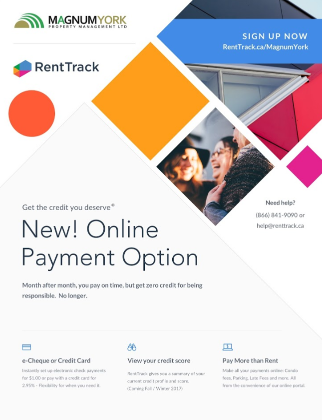 pay rent online flyer. magnum york poster rent track online payment renttrack sign up now pay flyer