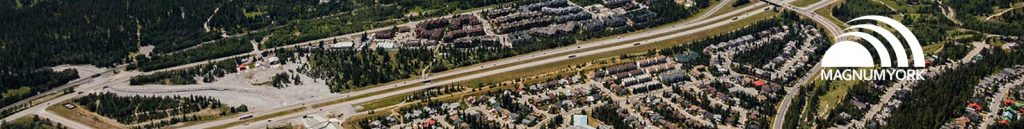 Canmore Magnum York aerial picture of town