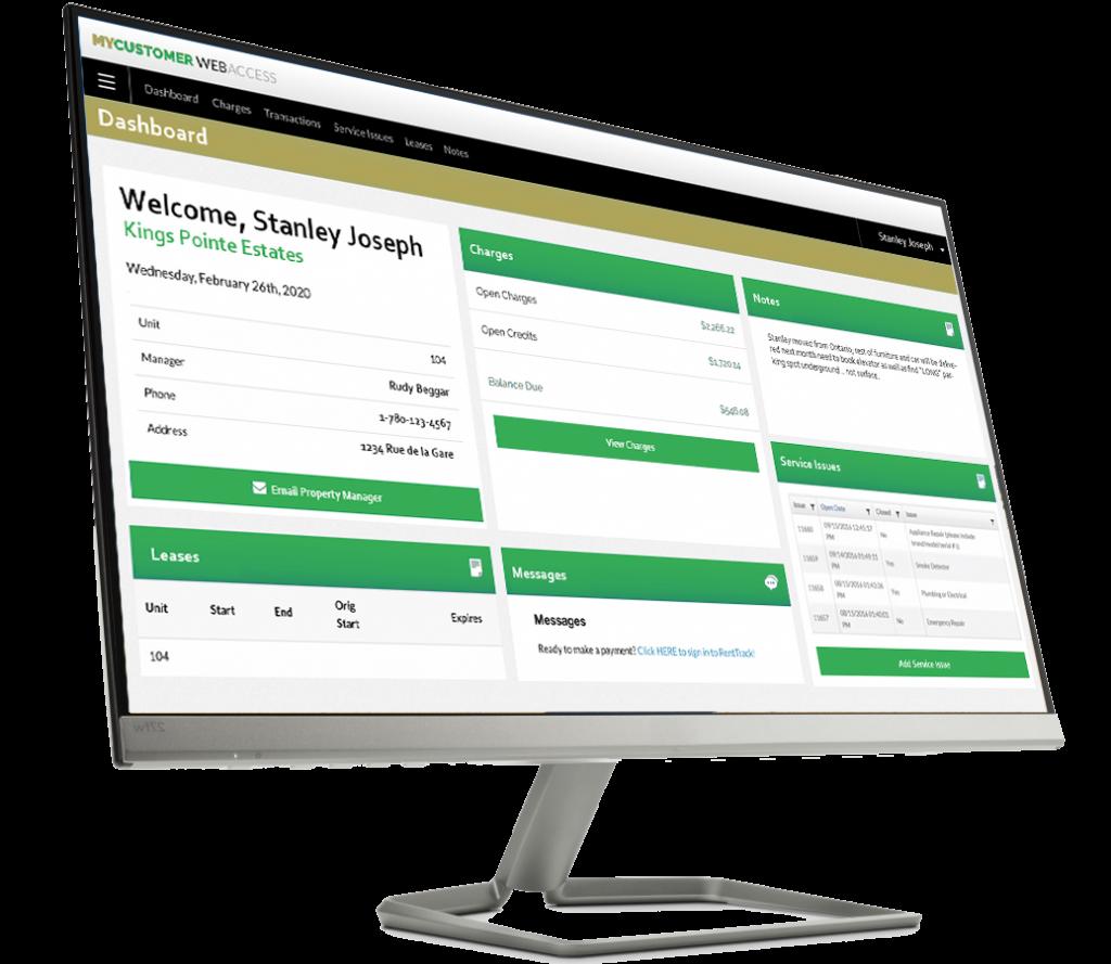 Magnum York desktop screen of MYCustomerWebAccess